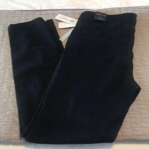 STS Blue. Black denim ankle skinny jeans.